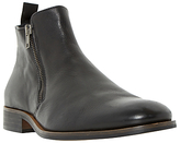 Dune Maccabees Leather Double Side Zip Boots, Black