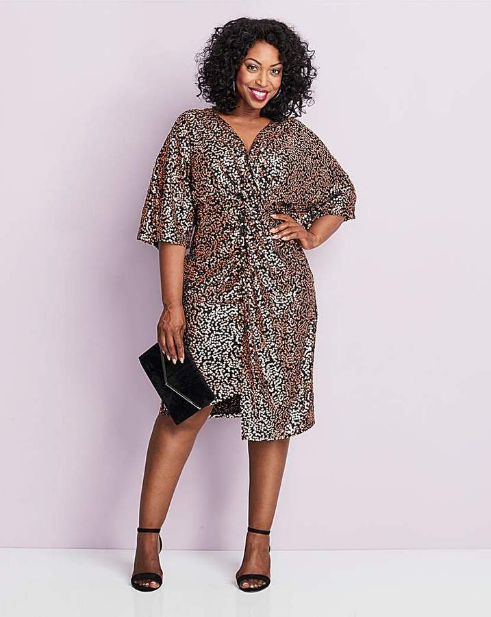 5aeb6552fdc Rose Gold Sequin Detailed Dress - ShopStyle UK