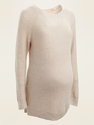 Old Navy Maternity Textured Boat-Neck Tunic Sweater