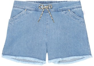 Chloé Kids Stretch-cotton denim shorts