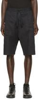 Isabel Benenato Black Linen Bermuda Shorts