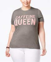 Mighty Fine Trendy Plus Size Caffeine Queen Graphic T-Shirt