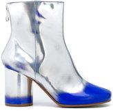 Maison Margiela paint effect ankle boots - women - Calf Leather/Leather - 37