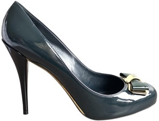Louis Vuitton Green Patent leather Heels
