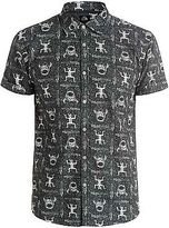Quiksilver NEW QUIKSILVERTM Mens Skull Cave Short Sleeve Shirt Tops