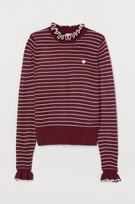 H&M Frill-trimmed jumper