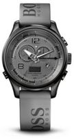 Hugo Boss 1512800 Chronograph Grey Silicon Logo Strap Watch One Size Assorted-Pre-Pack