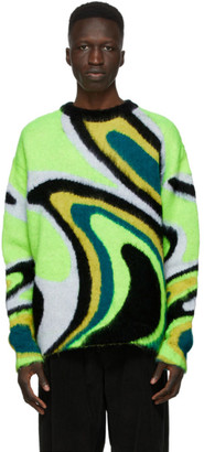 AGR SSENSE Exclusive Green Mohair Sweater