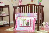 Dream On Me Spring Time Portable 3 Piece Mini Crib Bedding Set