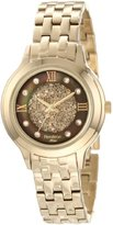 Swarovski Armitron Women's 75/5174BMGP Crystal Accented Gold-Tone Bracelet Watch