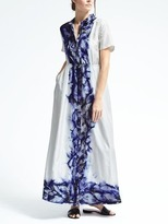 Banana Republic Piece & Co. Sun-Dyed Silk Maxi Shirtdress
