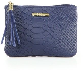 GiGi New York Leather Zip Pouch