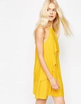 Asos Ruffle Pleated Mini Dress