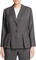 VINCE CAMUTO Plus Tweed Peplum Blazer