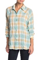 Love Stitch Oversized Plaid Button Down Shirt
