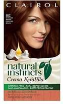 Clairol Natural Instincts Crema Keratina Hair Color Kit, Chocolate Brown 5BZ Chocolate Creme
