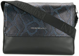 Emporio Armani snake effect crossbody bag