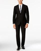Kenneth Cole Reaction Men's Slim-Fit Black Suit with Finished Pant Hem