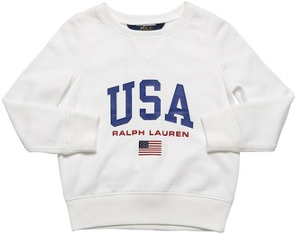 Ralph Lauren Logo Print Cotton Sweatshirt
