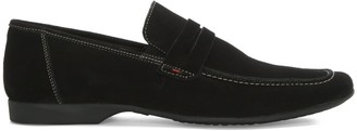 Daniel Rocky 100 Black Suede Saddle Loafer