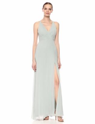 Jenny Yoo Women's Bryce Halter Neckline Long Chiffon Dress