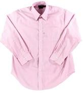 Lauren Ralph Lauren Pink Mens Size 16 Striped Button Dress Shirt