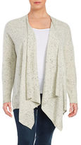 Lord & Taylor Plus Cashmere Flyaway Cardigan