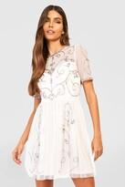 boohoo Boutique Ela Embellished Skater Dress