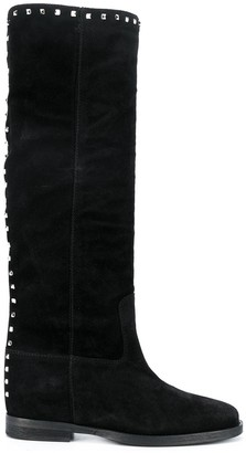 Via Roma 15 Studded Knee-High Boots