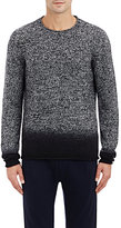 Vince MEN'S DÉGRADÉ CASHMERE SWEATER-BLACK SIZE XL
