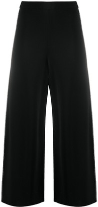 Stella McCartney Knitted Wide-Leg Cropped Trousers