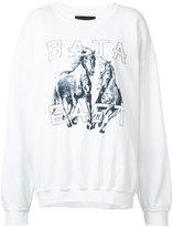 Baja East horse print sweatshirt