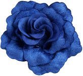 """Floral Fall 3"""" Rose Hair Clips Bridal Party Evening Headpiece Flower Brooch HC-04"""