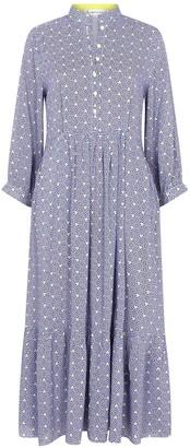 Libelula Midi Anastasia Dress Blue Stripey Triangle Print