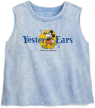 Disney Mickey Mouse Semi-Cropped Tank Top for Women Yester Ears