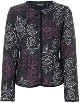 Armani Jeans rose print jacket