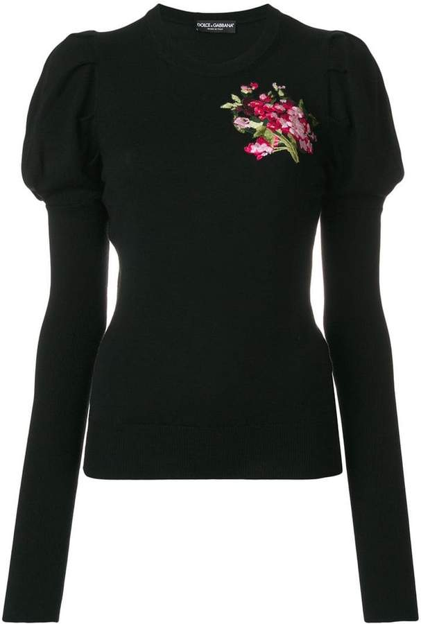 Dolce & Gabbana floral embroidered sweater