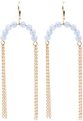 Salome Bridal Collection Nola Aquamarine Gemstone Fringe Tassel Earrings