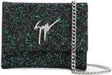 Giuseppe Zanotti Design Merry Sparkle glittered clutch