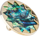 House Of Harlow Abalone Sunburst Cocktail Ring