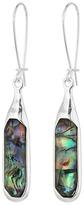 Robert Lee Morris Abalone Silver Shepherd's Hook Earrings Earring