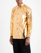 Comme des Garcons Regular-fit cotton-blend metallic shirt