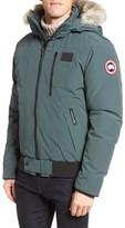 Canada Goose Men's 'Borden' Regular Fit Bomber Jacket With Genuine Coyote Trim