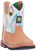 John Deere Tan & White Ikat Boot - Infant & Toddler