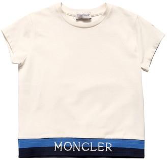 Moncler Cotton Jersey T-shirt W/ Logo Band
