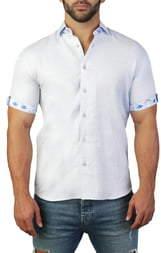 Maceoo Galileo Vibrance Regular Fit Short Sleeve Button-Up Sport Shirt