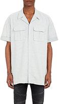 Neil Barrett Men's Cotton Twill Military Shirt