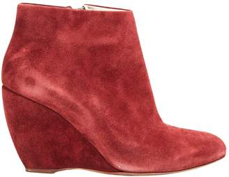 Rupert Sanderson Burgundy Suede Ankle boots