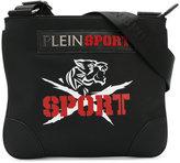 Plein Sport logo print messenger bag