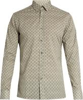 Lanvin Tile-print cotton shirt